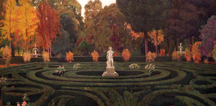 Arte do Dia: Jardins de Aranjuez de Santiago Rusiñol