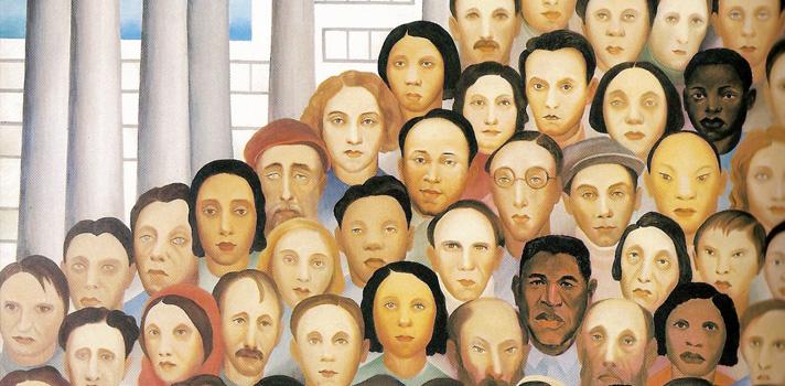 A pintura retrata o momento da industrialização brasileira, principalmente, a paulistana.