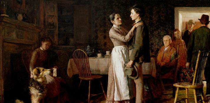 Arte do Dia: Quebrando Laços Domésticos de Thomas Hovenden