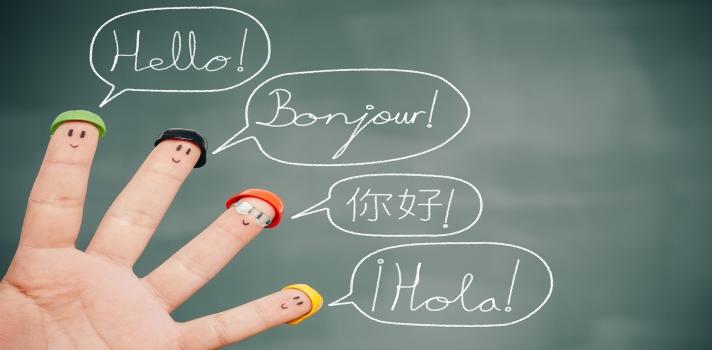 Uno de cada diez españoles estudia una lengua extranjera.
