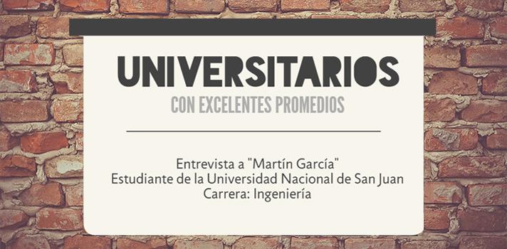 """Universitarios con excelentes promedios: """"un buen estudiante debe tener perseverancia"""", afirmó Martín García"""