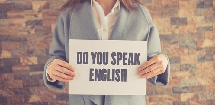 Consejos para hablar inglés en público.