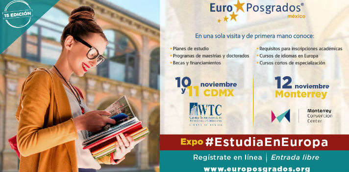 Eurposgrados reunirá a representantes de 100 centros de estudios con estudiantes de todos los niveles para darles toda la información sobre estudiar en Europa