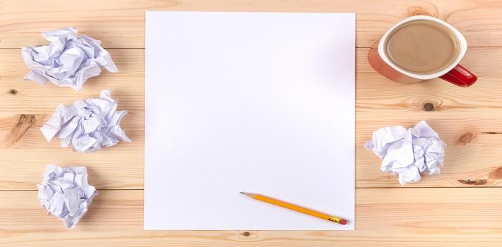 Enfrentarse al papel en blanco es el reto de todo proceso de redacción