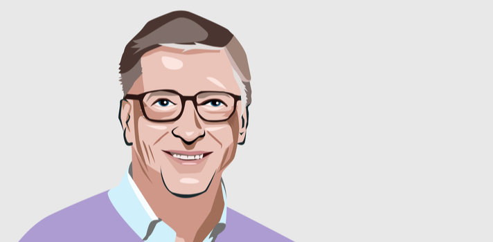 Bill Gates es un experto conferenciante invitado por universidades y fundaciones educativas