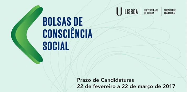 Bolsa de Consciência Social da Universidade de Lisboa com candidaturas a decorrer