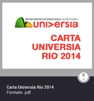 Carta Universia Río14
