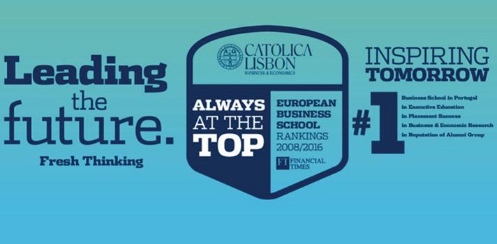 CATÓLICA-LISBON estreia-se no Ranking Global do Financial Times de Mestrados em Finanças