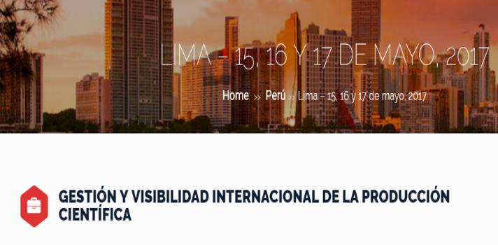 Seminario de Gestión y visibilidad internacional de la producción científica.