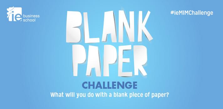 Participa en el MIM Blank Paper Challenge de la IE Business School