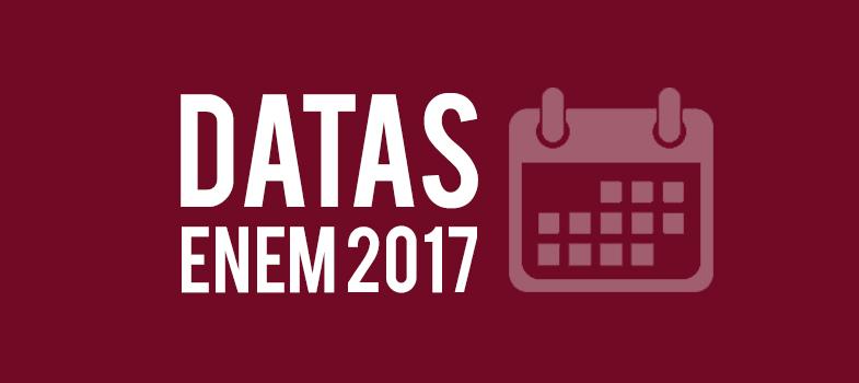 Organize-se: veja as datas do Enem 2017