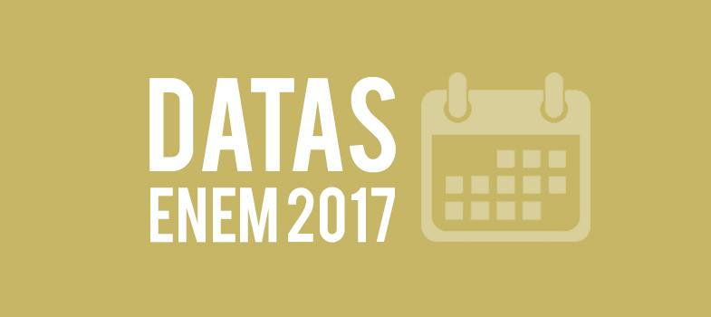 Provas do Enem 2017 acontecem em 5 e 12 de novembro