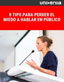 Ebook: 8 tips para perder el miedo a hablar en público