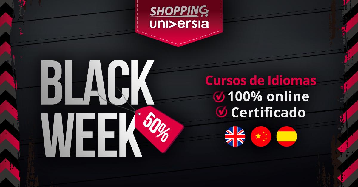 <p>Antecipando o Black Friday, foi criada a Black Week, que dará desconto em todos os cursos de línguas estrangeiras, mas só para quem se matricular até o dia 31/10. Os preços são a partir de R$ 65.</p><p></p><p>Não perca e cadastre-se já!</p><p>Saiba mais:<a href=https://bit.ly/2gqQRz9>bit.ly/2gqQRz9</a></p>