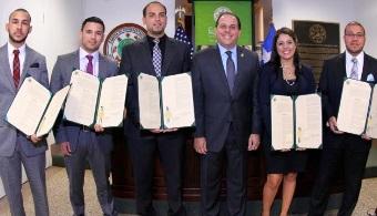 Cámara de Representantes reconoce el proyecto de realización de cohete de los estudiantes de la Universidad Politécnica