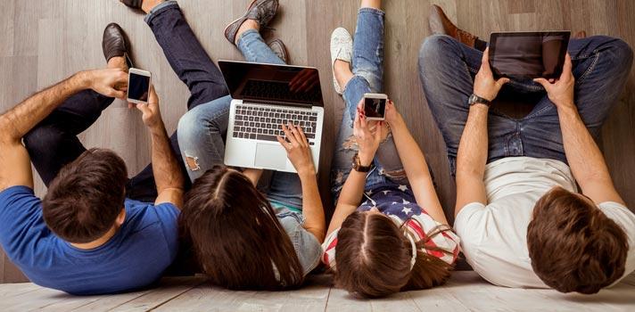Estudantes brasileiros estão entre os que mais usam a internet