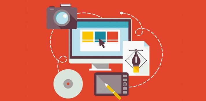Vários instrumentos usados por designers gráficos para a construção de seus projetos existem na internet