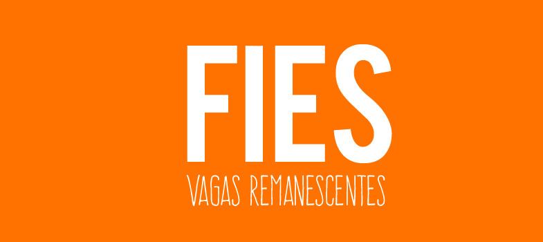 Inscrições para vagas remanescentes do Fies começam dia 20 de março