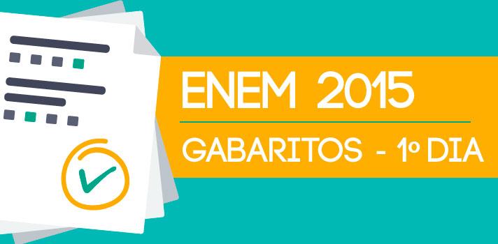 <p><em>Notícia atualizada às 01h50 de 25/10/2015.</em><em>Gabarito foi alterado pelos professores do cursinho durante a madrugada de 25/10/2015</em></p><p><strong><br/>Confira a seguir os gabaritos não oficiais do <a title=Tudo sobre o primeiro dia de provas do Enem 2015 href=https://noticias.universia.com.br/tag/enem-2015-primeiro-dia/>primeiro dia de provas do Enem 2015</a></strong>. No sábado (24), os candidatos enfrentaram as provas de ciências humanas e suas tecnologias e de ciências da natureza e suas tecnologias. As 45 questões objetivas foram resolvidas pelos professores do <strong>Anglo Vestibulares</strong>, de São Paulo:<br/><br/></p><p><span style=color: #333333;><strong>Leia também:</strong></span><br/><strong><a style=color: #ff0000; text-decoration: none; text-weight: bold; title=Confira a correção comentada das provas do Enem 2015 href=https://noticias.universia.com.br/destaque/noticia/2015/10/25/1132831/confira-correcao-comentada-provas-enem-2015.html>» <strong>Confira a correção comentada das provas do Enem 2015</strong></a></strong><br/><a style=color: #ff0000; text-decoration: none; text-weight: bold; title=href=https://noticias.universia.com.br/destaque/noticia/2015/10/24/1132828/enem-passado-enterrado-diz-professor.html>» <strong>Enem do passado foi enterrado, diz professor</strong></a><br/><a style=color: #ff0000; text-decoration: none; text-weight: bold; title=href=https://noticias.universia.com.br/destaque/noticia/2015/10/24/1132825/enem-ridiculo-reclama-candidata-deixar-local-prova.html>» <strong>O Enem é ridículo, reclama candidata ao deixar local da prova</strong></a><br/><a style=color: #ff0000; text-decoration: none; text-weight: bold; title=Candidatos analisam primeiro dia de provas do Enem 2015 href=https://noticias.universia.com.br/destaque/noticia/2015/10/24/1132826/candidatos-analisam-primeiro-dia-provas-enem-2015.html>» <strong>Candidatos analisam primeiro dia de provas do Enem 2015</strong></a><br/><strong><span style=color: #ff0