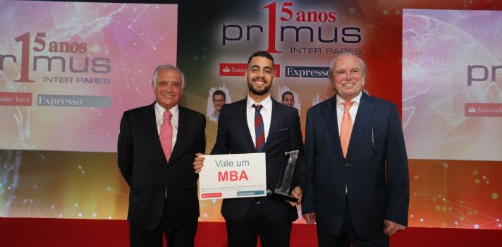 João Ramadas, da Católica, vence prémio de excelência Primus Inter Pares