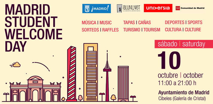 """Los 40 Principales ponen música al """"Madrid Student Welcome Day"""", el gran encuentro de bienvenida de Madrid a los estudiantes extranjeros"""