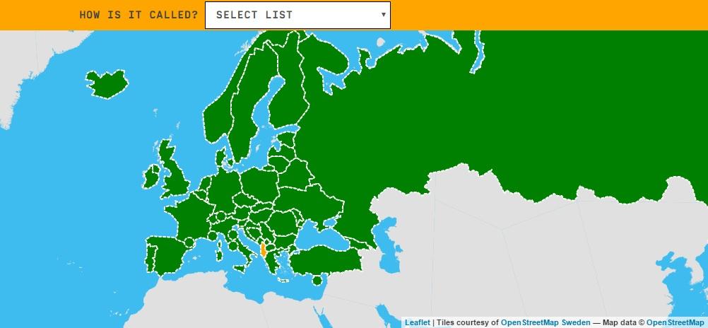Mapa para situar los países de la UE