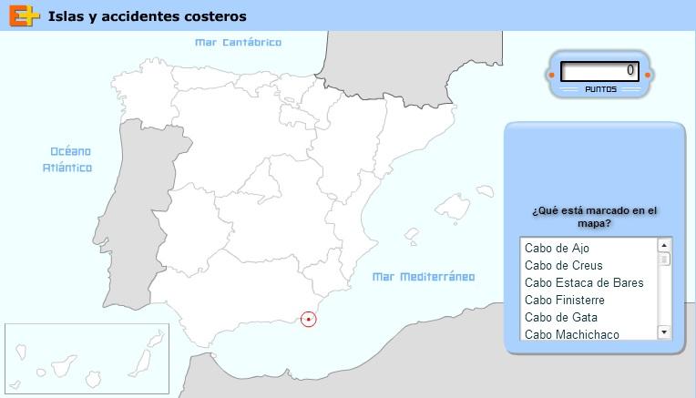 Mapa de las Islas y Costas de España
