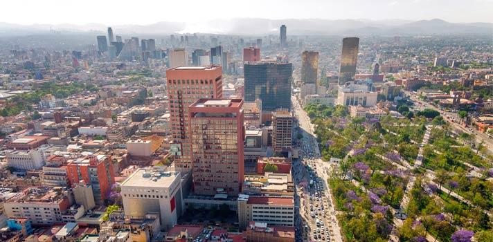 Vista aérea de la Ciudad de México.