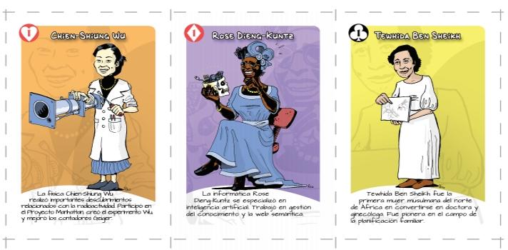 """""""Mujeres de ciencia"""": un juego para conocer a las científicas más importantes."""