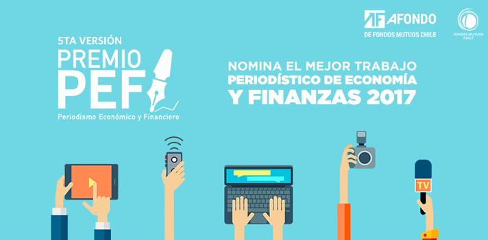 Se abre convocatoria para la 5° versión del Premio al Periodismo Económico y Financiero (PEF)