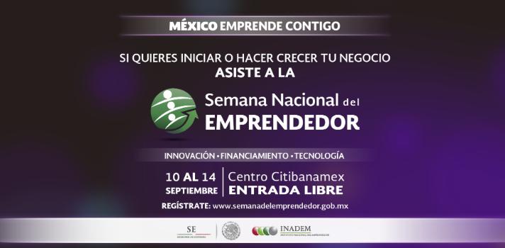 El Instituto Nacional del Emprendedor (INADEM) tiene preparadas diversas actividades durante este evento