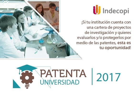 El viernes 19 de mayo finaliza el plazo para postularse en el programa Patenta Universidad de Indecopi.