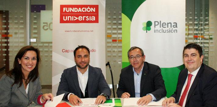 Plena Inclusión, Banco Santander y Fundación Universia apuestan por la inclusión laboral de las personas con discapacidad