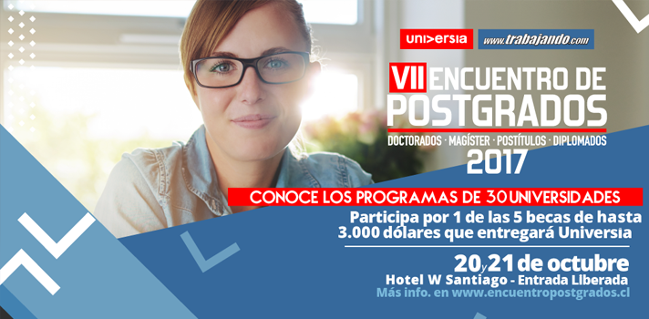 VII Encuentro de Postgrados: Universia sorteará 5 becas de hasta 3.000 dólares