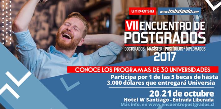 Hoy se realiza el VII Encuentro de Postgrados de Universidades Chilenas