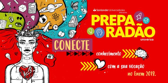 <p>Agora é oficial! A Universia vai realizar a 2ª edição do Preparadão Universia! <br/><br/>Apresentado por<span>Santander Universidades, o festival acontecerá</span>em 30 de outubro deste ano, no Ginásio do Ibirapuera, em São Paulo.<br/><br/><strong>Confira como foi a edição de 2018!</strong><br/><br/></p><p><iframe width=702 height=395 style=display: block; margin-left: auto; margin-right: auto; src=https://www.youtube.com/embed/8SQSwk4U3Q0 frameborder=0 allow=accelerometer; autoplay; encrypted-media; gyroscope; picture-in-picture allowfullscreen=allowfullscreen></iframe></p><p>Em 2019, o<span></span>festival também receberá youtubers e influenciadores digitais como convidados especiais, que terão as presenças confirmadas até a data do evento. Nas áreas externas ao Ginásio, diferentes programações estarão à disposição dos visitantes:<span></span>experiências relacionadas a cursos e profissões apresentadas por<span></span>universidades,<span></span><em>food trucks</em>, atividades para aliviar a tensão, e algumas surpresas que irão fascinar os participantes.<br/><strong><br/>Quando:</strong>30/10das 07h30 às 18h30</p><p><strong>Onde:<span></span></strong>GINÁSIO DO IBIRAPUERA<strong><span></span>-<span></span></strong>Rua Manoel da Nóbrega, 1267<br/><br/></p><table width=1079 height=31><tbody><tr><td><h2 style=text-align: center;><span>Quer acompanhar as novidades, receber conteúdos exclusivos e interagir com convidados super especiais? Acesse a plataforma oficial do evento<a href=https://preparadao.universia.com.br>preparadao.universia.com.br</a></span></h2></td></tr></tbody></table><h2 style=text-align: center;></h2>