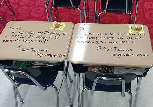 Mensagens De Incentivo Para Estudantes: Professora Deixa Mensagens De Incentivo Nas Carteiras Dos