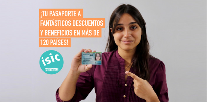 International Student Identity Card (ISIC, por sus siglas en inglés).