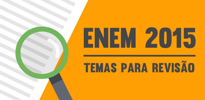 <p><a title=Tudo sobre o Enem 2015 href=https://noticias.universia.com.br/tag/notícias-enem/>Falta pouco para as provas do Enem 2015</a>. Os candidatos já caminham para a reta final de preparação dos exames, que acontecerão nos dias 24 e 25 de outubro.Para que você consiga alcançar seus objetivos, a <strong>Universia Brasil</strong>, em parceria com o <a title=Blog do Enem href=https://blogdoenem.com.br/ target=_blank>Blog do Enem</a>, selecionou os temas mais buscados pelos candidatos durante o estudo preparatório de língua portuguesa, história, biologia, física e química. Confira:<br/><strong><br/><br/></strong></p><p><img style=display: block; margin-left: auto; margin-right: auto; src=https://imagenes.universia.net/gc/net/images/educacion/i/in/inf/infografico-temas-revisar-enem-2015-noticias.jpg alt=width=500 height=9145/></p><p><span style=color: #333333;><strong><br/>Veja também:</strong></span><br/><a style=color: #ff0000; text-decoration: none; text-weight: bold; title=Mais de 100 temas que podem aparecer na redação do Enem 2015 href=https://noticias.universia.com.br/destaque/noticia/2015/06/05/1126287/100-temas-podem-aparecer-redaco-enem-2015.html>» <strong>Mais de 100 temas que podem aparecer na redação do Enem 2015</strong></a><br/><a style=color: #ff0000; text-decoration: none; text-weight: bold; title=Tudo sobre a redação do Enem 2015 href=https://noticias.universia.com.br/tag/redação-enem-2015>» <strong>Tudo sobre a redação do Enem 2015</strong></a><br/><a style=color: #ff0000; text-decoration: none; text-weight: bold; title=Todas as notícias sobre o Enem 2015 href=https://noticias.universia.com.br/tag/notícias-enem-2015/>» <strong>Todas as notícias sobre o Enem 2015</strong></a></p><p></p>