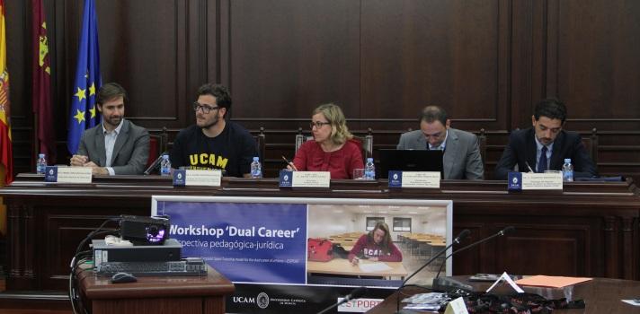 """Javier Cienfuegos: """"Gracias a la UCAM podemos compaginar estudios y deporte"""""""
