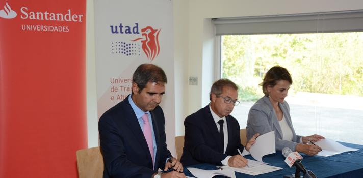 Universidade de Trás-os-Montes e Alto Douro e Santander Totta assinam convénio