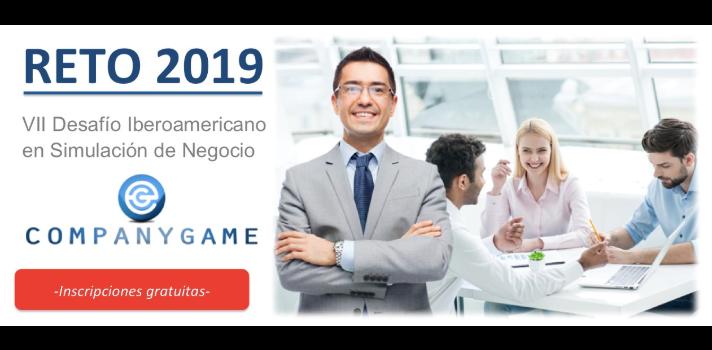 Inscripciones abiertas para el VII Desafío Iberoamericano en Simulación de Negocios, el Reto CompanyGame 2019: una competición internacional para universitarios