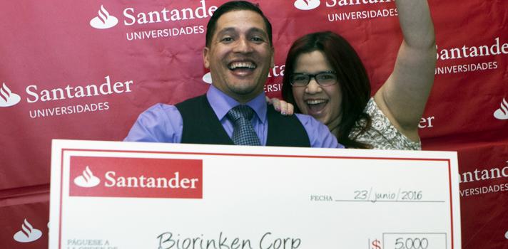 Biorikén Corp. de la Universidad Interamericana, ganador del segundo premio.