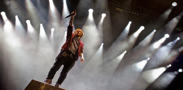Ed Sheeran compositor y cabeza del pop mundial.