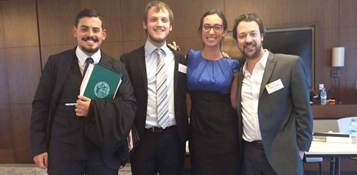 Juan Francisco Padín, Alan Feler, Jimena Posleman y Emiliano Buis.
