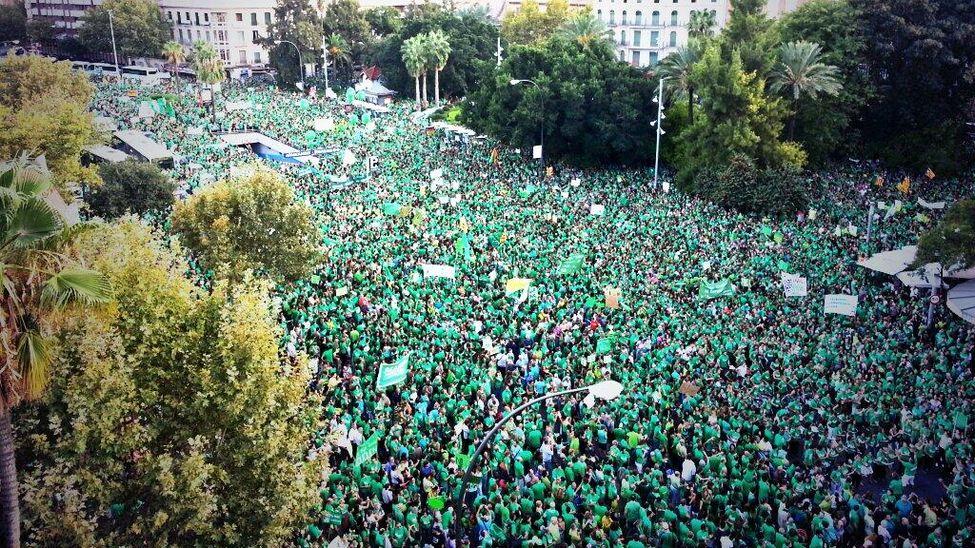 Protesta de la Marea Verde en Baleares