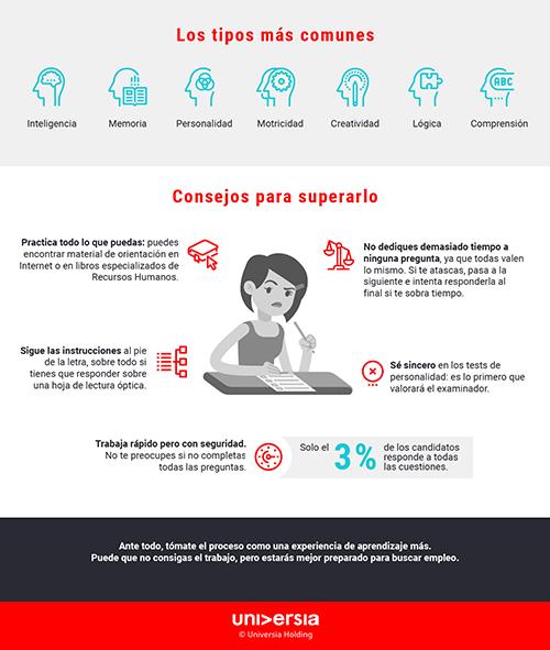 Infografía: Cómo superar con éxito un examen psicotécnico