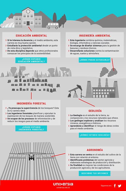 Infografía: ¿Para qué sirve y dónde puedes estudiar una carrera ambientalista?