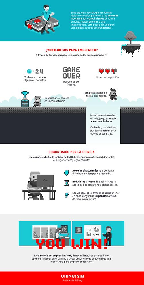 Infografía: ¿Cómo pueden ayudarte los videojuegos a emprender?