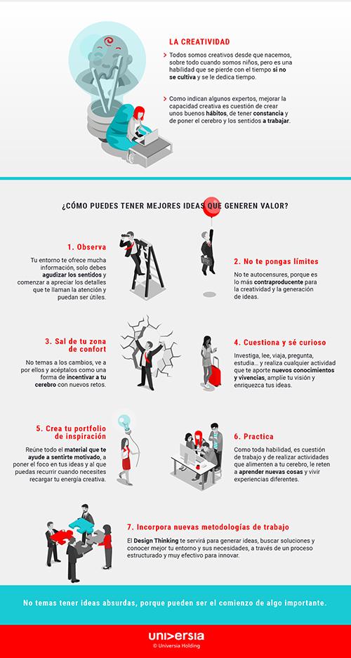 Infografía: ¿Cómo ser más creativo en el trabajo?